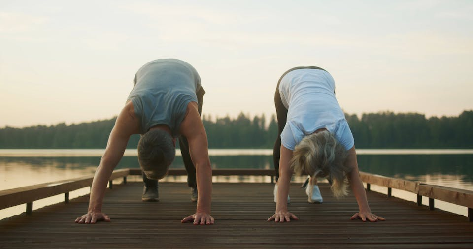 A Couple Doing Exercise