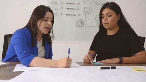 Two Women Having A Business Talk