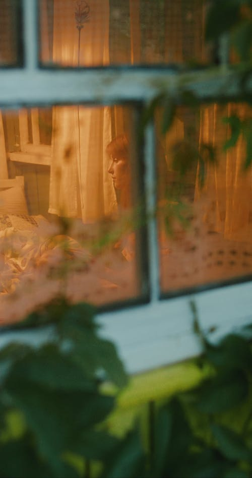 A View of a Sad Woman From the Window