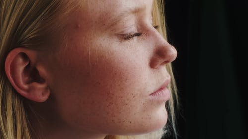 Close Up Video of a Woman's Face