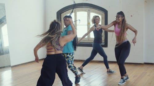 Beautiful Women Dancing Together