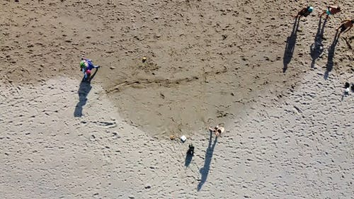 Drone Footage of People on the Beach