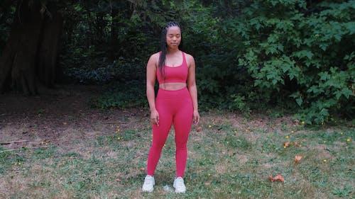Beautiful Woman Wearing Pink Gym Attire