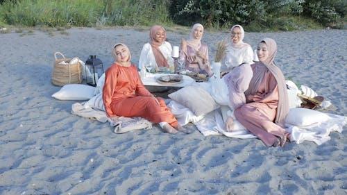 Women Wearing Hijab at the Beach