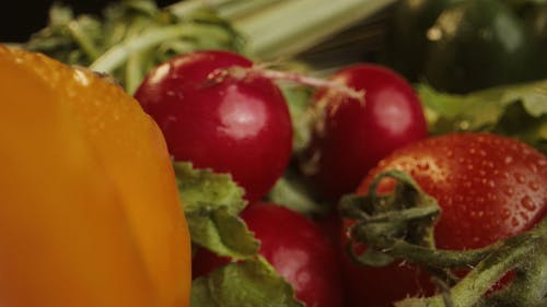 Close up of Assorted Fruits and Vegetables
