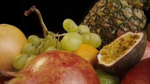 Pull out Shot of a Variety of Fruits