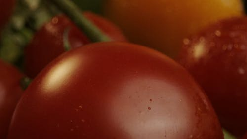 Droplets of Water on a Tomato