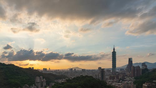 Time Lapse Video of Taiwan Skyscrapers