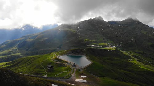 A Drone Footage of Green Mountains