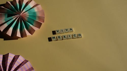 Scrabble Tiles on Yellow Background