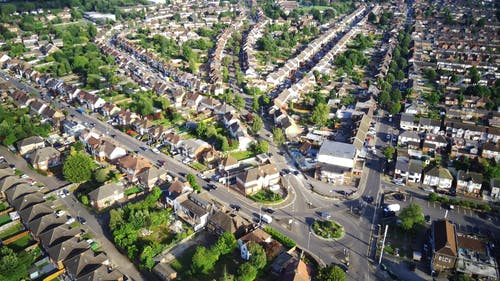 Aerial Footage of a Residential Area