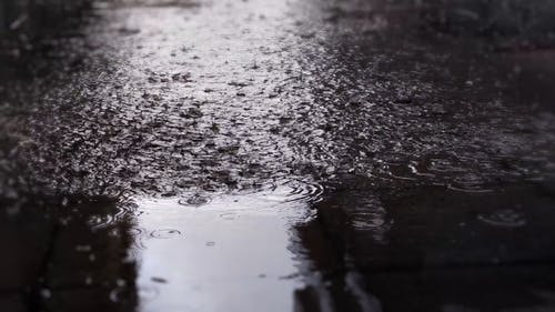 Splatters Of Water In The Ground