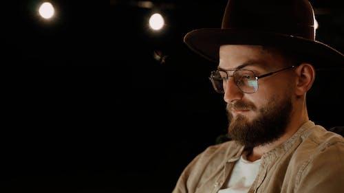 Man Wearing Fedora Hat