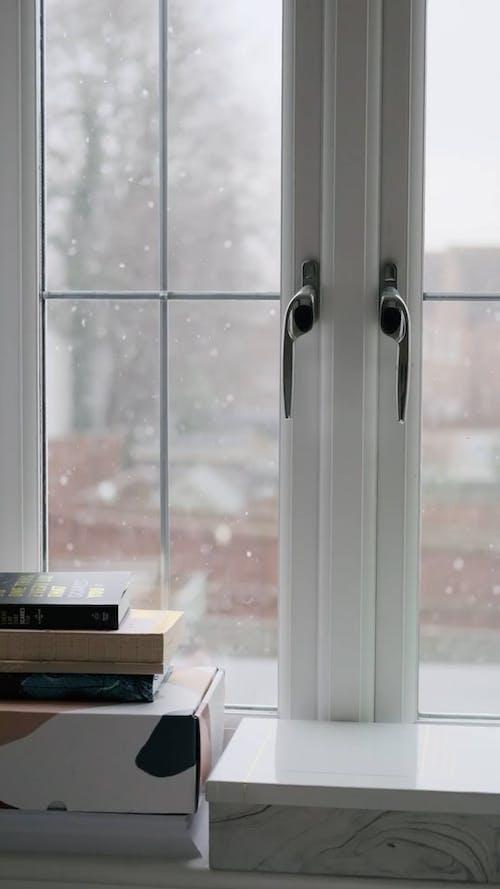 Video of Snowfall in a Window
