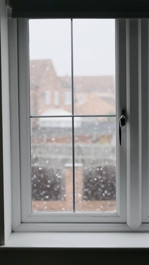 By the Window View of Snowfall