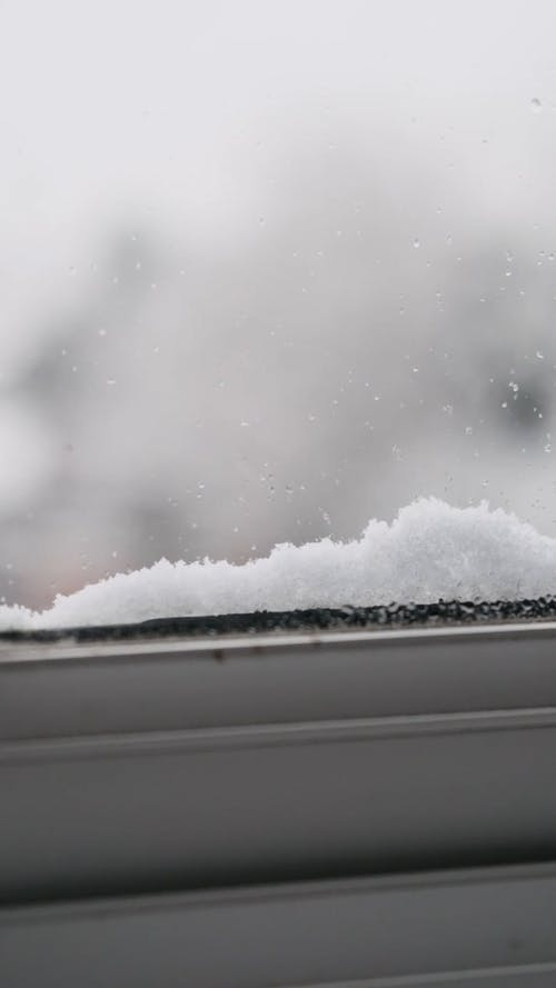 Snow Fall By the Window