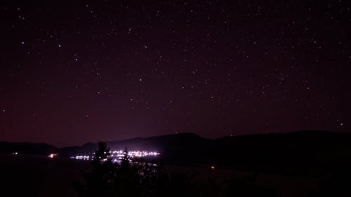 Time lapse of stars moving in sky at night