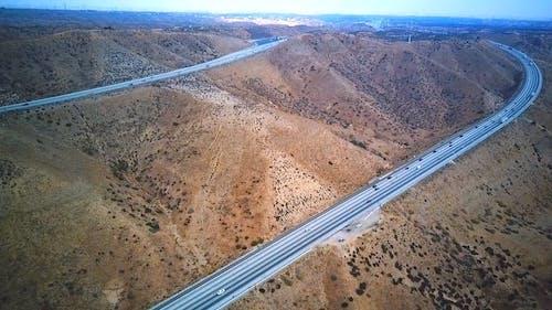 Aerial Footage of Cars on Highway