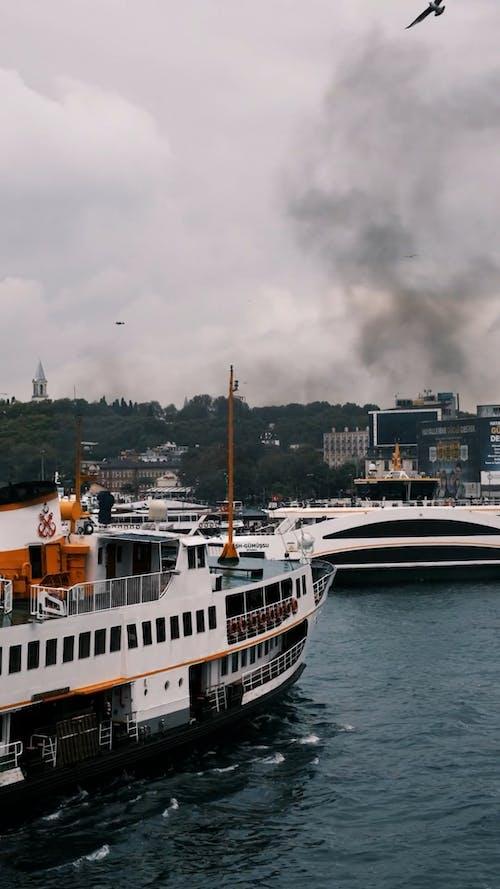 Passenger ship sailing in water