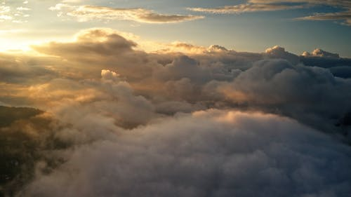 Video Above the Clouds During Daytime