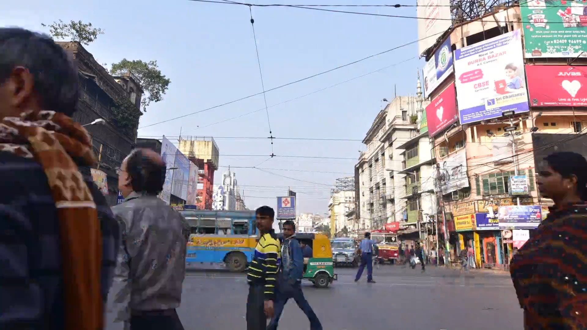 Time Lapse Of People And Traffic