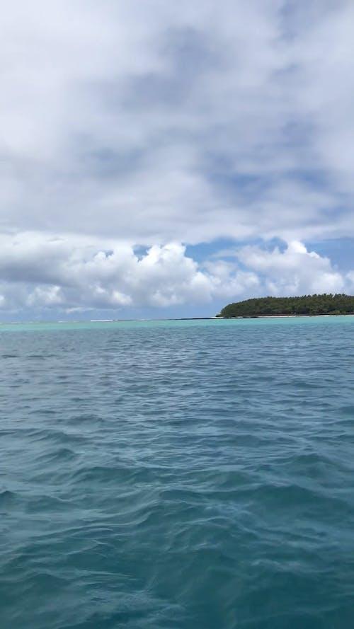A Shot of an Island Around Water