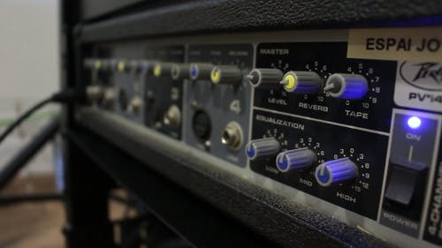 Close-Up View Of A Sound Mixer