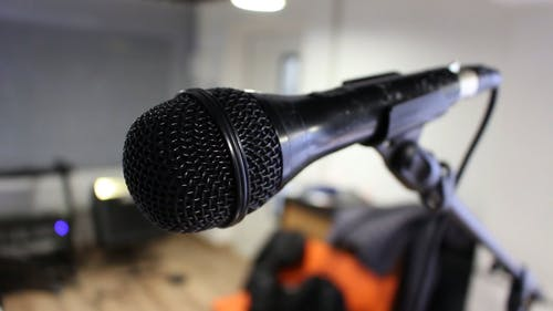 Person Holding A Mic
