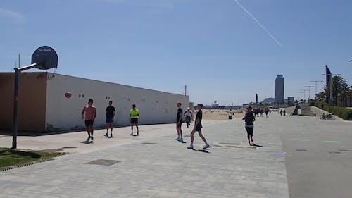 Men Playing Basketball