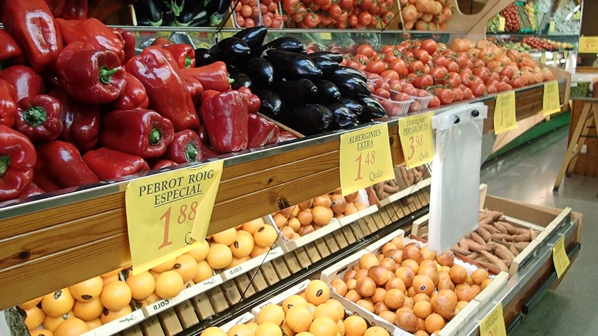 Fruits And Vegetables Aisle Footage